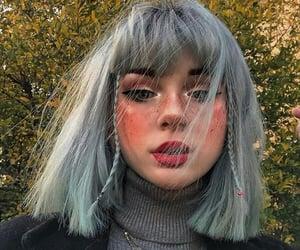 bangs, braids, and dyed hair image
