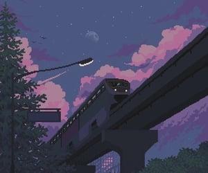 pixel, art, and purple image