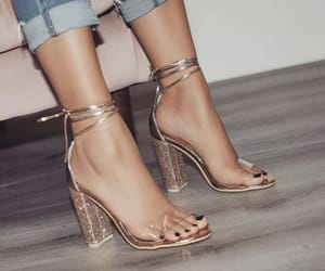fashion, high heels, and goals image