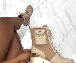 beige, boots, and heels image