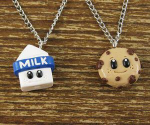 milk, necklace, and cute image