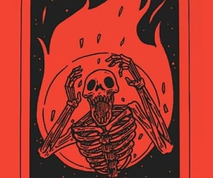 red, aesthetic, and skeleton image