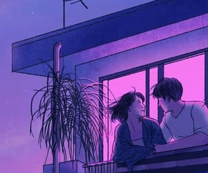 aesthetic, purple, and couple image