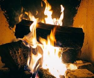 blaze, bonfire, and cold image