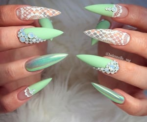 inspiration, nails, and mint image