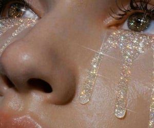 aesthetic, glitter, and eyes image