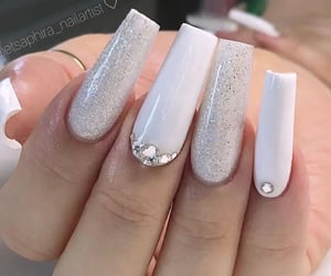 long nails, cute nails, and nails image