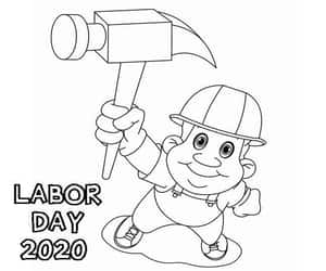 labor day 2020, holiday coloring pages, and labor day coloring pages image