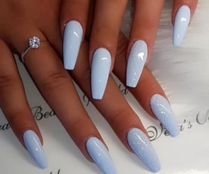 nails and blue nails image