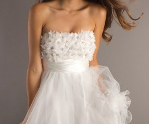 dress, prom dresses, and white image