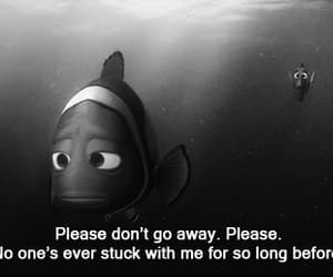 black and white, finding nemo, and fish image