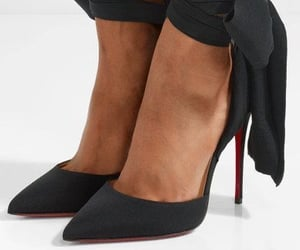 black shoes, heels shoes, and christian loboutin image