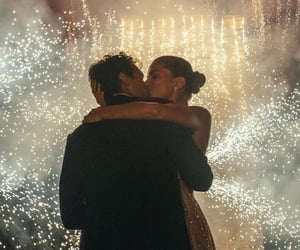 love, fireworks, and kiss image