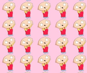 family guy, pink, and stewie image