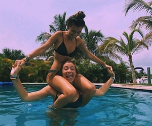 girl, best friends, and summer image