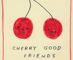 art, cherry, and quotes image