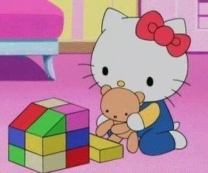 background, kawaii, and hello kitty image