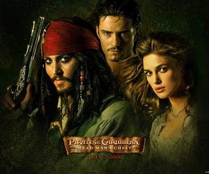 captain jack sparrow, Davy Jones, and elizabeth swann image