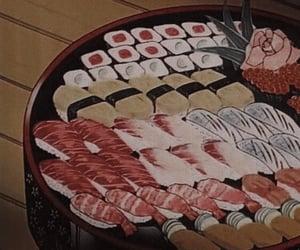 anime, food, and 80s image