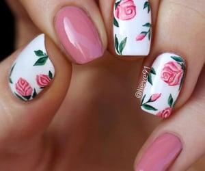 nails, rose, and pink image