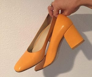 aesthetic, orange, and shoes image