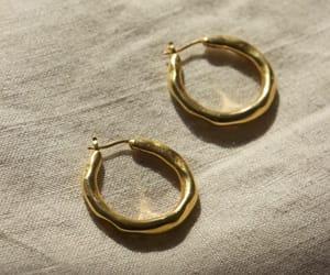 boho, gold, and hoop earrings image
