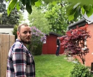 brother, garden, and spring image