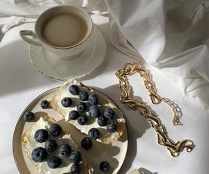 blueberries, coffee, and fruit image