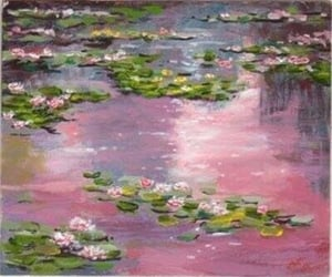 monet, art, and pink image