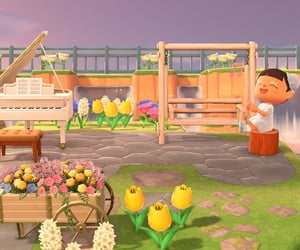 aesthetic, animal crossing, and flowers image