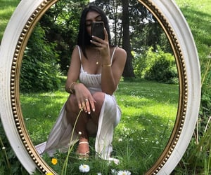 fashion, mirror, and summer image