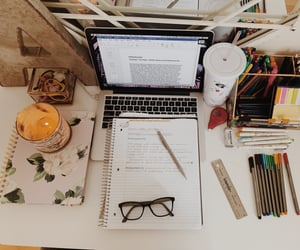 girly, homework, and school image