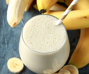 drink, fruit, and banana image