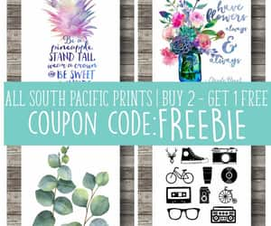 hand lettering, typography print, and printableart image