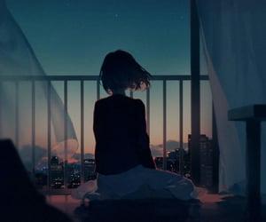 sad girl, sad anime, and i wish you a good night image