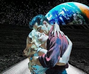 love, space, and vintage image