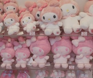aesthetic, pink, and sanrio image