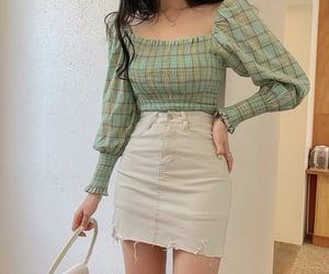 fashion, green, and korean image