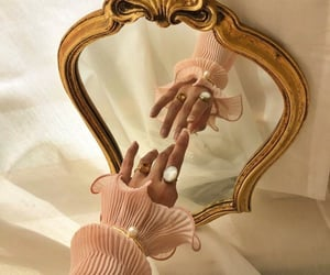mirror, pink, and gold image