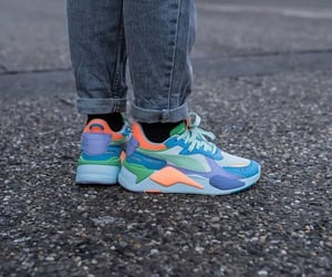 blue, pastel, and sneakers image