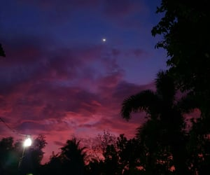 magical, pink skies, and moon image