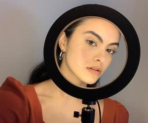 beautiful, dark hair, and make-up image