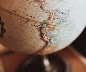 world, globe, and map image