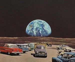 space, cars, and earth image