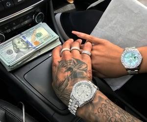 money, couple, and tattoo image