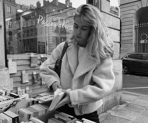 black and white, book, and fashion image