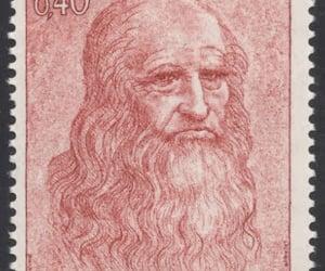 monaco stamp, leonardo da vinci stamp, and postal art image