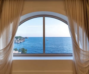 curtains, dreamy, and sea image