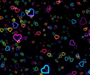 gif, hearts, and colorful image
