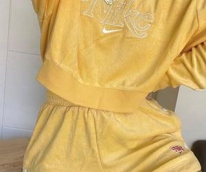 yellow, fashion, and nike image